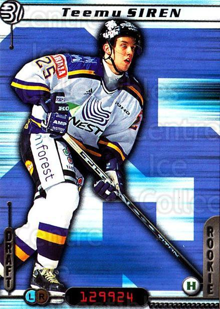 2000-01 Finnish Cardset #9 Teemu Siren<br/>7 In Stock - $2.00 each - <a href=https://centericecollectibles.foxycart.com/cart?name=2000-01%20Finnish%20Cardset%20%239%20Teemu%20Siren...&quantity_max=7&price=$2.00&code=161860 class=foxycart> Buy it now! </a>