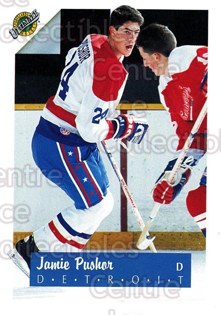 1991 Ultimate Draft French #24 Jamie Pushor<br/>13 In Stock - $1.00 each - <a href=https://centericecollectibles.foxycart.com/cart?name=1991%20Ultimate%20Draft%20French%20%2324%20Jamie%20Pushor...&quantity_max=13&price=$1.00&code=16197 class=foxycart> Buy it now! </a>