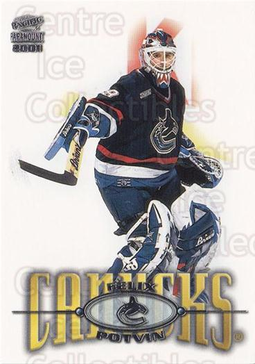 2000-01 Paramount #242 Felix Potvin<br/>2 In Stock - $1.00 each - <a href=https://centericecollectibles.foxycart.com/cart?name=2000-01%20Paramount%20%23242%20Felix%20Potvin...&quantity_max=2&price=$1.00&code=162122 class=foxycart> Buy it now! </a>