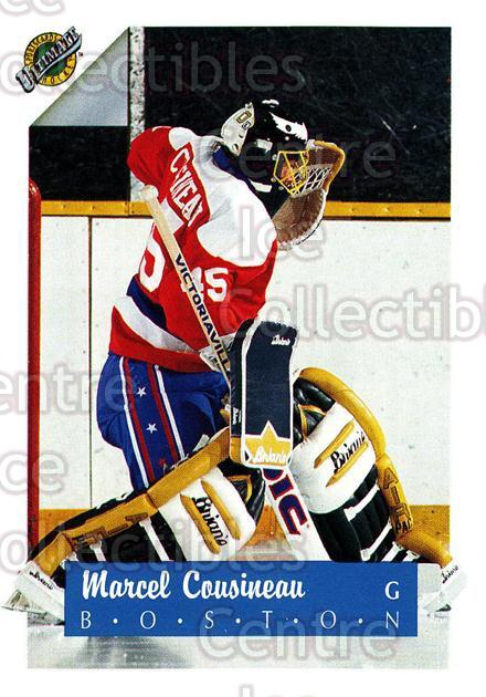 1991 Ultimate Draft French #45 Marcel Cousineau<br/>11 In Stock - $1.00 each - <a href=https://centericecollectibles.foxycart.com/cart?name=1991%20Ultimate%20Draft%20French%20%2345%20Marcel%20Cousinea...&quantity_max=11&price=$1.00&code=16213 class=foxycart> Buy it now! </a>