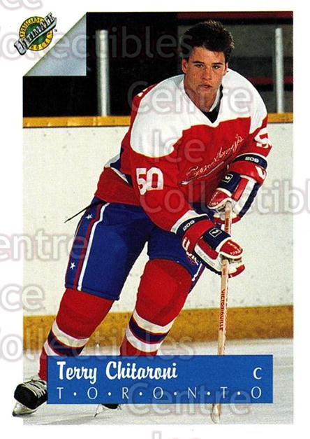 1991 Ultimate Draft French #49 Terry Chitaroni<br/>13 In Stock - $1.00 each - <a href=https://centericecollectibles.foxycart.com/cart?name=1991%20Ultimate%20Draft%20French%20%2349%20Terry%20Chitaroni...&quantity_max=13&price=$1.00&code=16217 class=foxycart> Buy it now! </a>