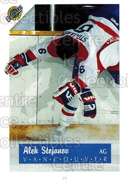 1991 Ultimate Draft French #6 Alex Stojanov<br/>13 In Stock - $1.00 each - <a href=https://centericecollectibles.foxycart.com/cart?name=1991%20Ultimate%20Draft%20French%20%236%20Alex%20Stojanov...&quantity_max=13&price=$1.00&code=16223 class=foxycart> Buy it now! </a>