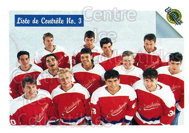 1991 Ultimate Draft French #77 Checklist<br/>12 In Stock - $1.00 each - <a href=https://centericecollectibles.foxycart.com/cart?name=1991%20Ultimate%20Draft%20French%20%2377%20Checklist...&quantity_max=12&price=$1.00&code=16240 class=foxycart> Buy it now! </a>