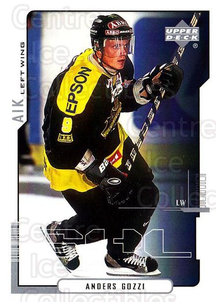 2000-01 Swedish Upper Deck #8 Anders Gozzi<br/>4 In Stock - $2.00 each - <a href=https://centericecollectibles.foxycart.com/cart?name=2000-01%20Swedish%20Upper%20Deck%20%238%20Anders%20Gozzi...&quantity_max=4&price=$2.00&code=162516 class=foxycart> Buy it now! </a>