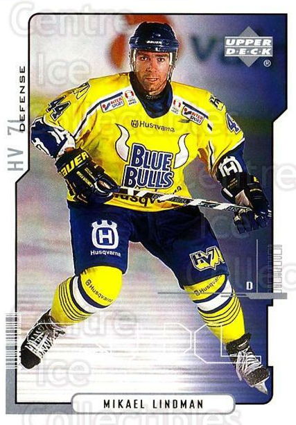 2000-01 Swedish Upper Deck #96 Mikael Lindman<br/>6 In Stock - $2.00 each - <a href=https://centericecollectibles.foxycart.com/cart?name=2000-01%20Swedish%20Upper%20Deck%20%2396%20Mikael%20Lindman...&price=$2.00&code=162530 class=foxycart> Buy it now! </a>