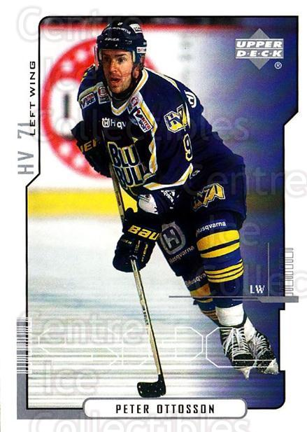 2000-01 Swedish Upper Deck #97 Peter Ottosson<br/>9 In Stock - $2.00 each - <a href=https://centericecollectibles.foxycart.com/cart?name=2000-01%20Swedish%20Upper%20Deck%20%2397%20Peter%20Ottosson...&price=$2.00&code=162531 class=foxycart> Buy it now! </a>