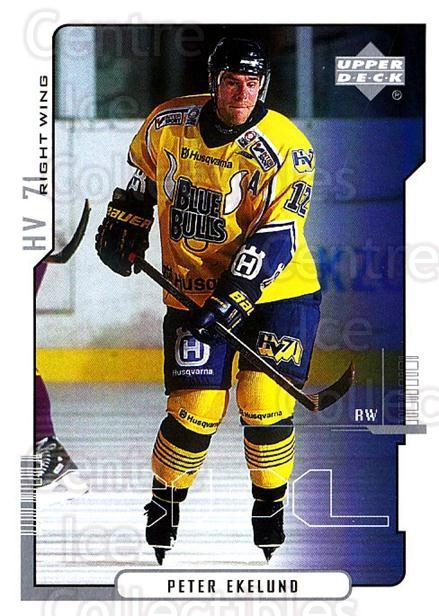 2000-01 Swedish Upper Deck #99 Peter Ekelund<br/>7 In Stock - $2.00 each - <a href=https://centericecollectibles.foxycart.com/cart?name=2000-01%20Swedish%20Upper%20Deck%20%2399%20Peter%20Ekelund...&price=$2.00&code=162533 class=foxycart> Buy it now! </a>