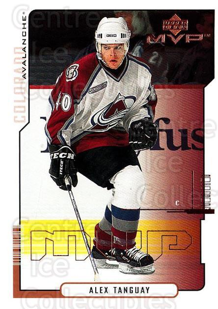 2000-01 Upper Deck MVP #54 Alex Tanguay<br/>3 In Stock - $1.00 each - <a href=https://centericecollectibles.foxycart.com/cart?name=2000-01%20Upper%20Deck%20MVP%20%2354%20Alex%20Tanguay...&quantity_max=3&price=$1.00&code=162548 class=foxycart> Buy it now! </a>
