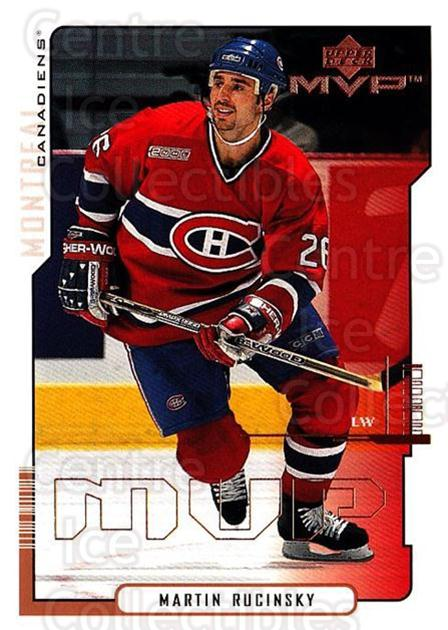 2000-01 Upper Deck MVP #93 Martin Rucinsky<br/>6 In Stock - $1.00 each - <a href=https://centericecollectibles.foxycart.com/cart?name=2000-01%20Upper%20Deck%20MVP%20%2393%20Martin%20Rucinsky...&quantity_max=6&price=$1.00&code=162589 class=foxycart> Buy it now! </a>