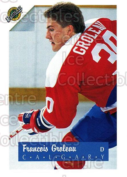 1991 Ultimate Draft #30 Francois Groleau<br/>5 In Stock - $1.00 each - <a href=https://centericecollectibles.foxycart.com/cart?name=1991%20Ultimate%20Draft%20%2330%20Francois%20Grolea...&quantity_max=5&price=$1.00&code=16277 class=foxycart> Buy it now! </a>