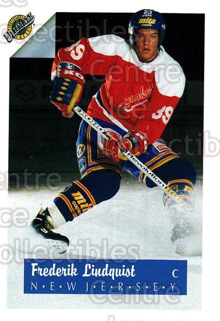 1991 Ultimate Draft #39 Fredrik Lindquist<br/>7 In Stock - $1.00 each - <a href=https://centericecollectibles.foxycart.com/cart?name=1991%20Ultimate%20Draft%20%2339%20Fredrik%20Lindqui...&quantity_max=7&price=$1.00&code=16286 class=foxycart> Buy it now! </a>