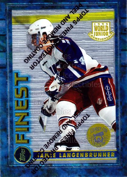 1994-95 Finest Super Team Winner Redeemed #120 Jamie Langenbrunner<br/>11 In Stock - $2.00 each - <a href=https://centericecollectibles.foxycart.com/cart?name=1994-95%20Finest%20Super%20Team%20Winner%20Redeemed%20%23120%20Jamie%20Langenbru...&quantity_max=11&price=$2.00&code=1628 class=foxycart> Buy it now! </a>