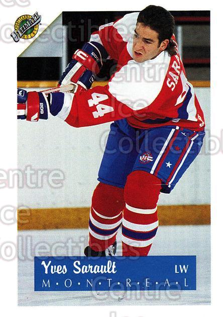 1991 Ultimate Draft #44 Yves Sarault<br/>7 In Stock - $1.00 each - <a href=https://centericecollectibles.foxycart.com/cart?name=1991%20Ultimate%20Draft%20%2344%20Yves%20Sarault...&quantity_max=7&price=$1.00&code=16290 class=foxycart> Buy it now! </a>