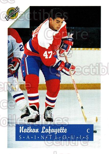1991 Ultimate Draft #46 Nathan Lafayette<br/>9 In Stock - $1.00 each - <a href=https://centericecollectibles.foxycart.com/cart?name=1991%20Ultimate%20Draft%20%2346%20Nathan%20Lafayett...&quantity_max=9&price=$1.00&code=16292 class=foxycart> Buy it now! </a>