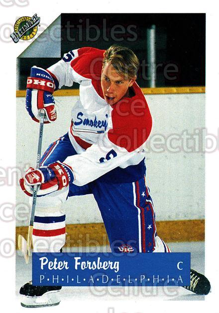 1991 Ultimate Draft #5 Peter Forsberg<br/>4 In Stock - $2.00 each - <a href=https://centericecollectibles.foxycart.com/cart?name=1991%20Ultimate%20Draft%20%235%20Peter%20Forsberg...&quantity_max=4&price=$2.00&code=16296 class=foxycart> Buy it now! </a>