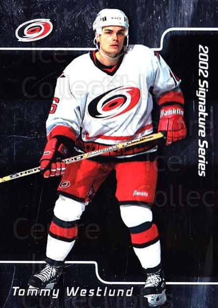 2001-02 BAP Signature Series #56 Tommy Westlund<br/>4 In Stock - $1.00 each - <a href=https://centericecollectibles.foxycart.com/cart?name=2001-02%20BAP%20Signature%20Series%20%2356%20Tommy%20Westlund...&quantity_max=4&price=$1.00&code=162973 class=foxycart> Buy it now! </a>