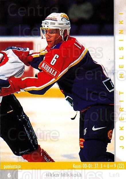 2001-02 Finnish Cardset #252 Ilkka Mikkola<br/>9 In Stock - $2.00 each - <a href=https://centericecollectibles.foxycart.com/cart?name=2001-02%20Finnish%20Cardset%20%23252%20Ilkka%20Mikkola...&price=$2.00&code=163138 class=foxycart> Buy it now! </a>