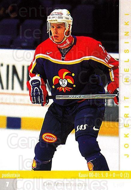 2001-02 Finnish Cardset #254 Olli Malmivaara<br/>5 In Stock - $2.00 each - <a href=https://centericecollectibles.foxycart.com/cart?name=2001-02%20Finnish%20Cardset%20%23254%20Olli%20Malmivaara...&price=$2.00&code=163140 class=foxycart> Buy it now! </a>