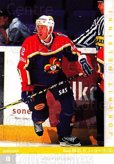 2001-02 Finnish Cardset #256 Alex Brooks<br/>2 In Stock - $2.00 each - <a href=https://centericecollectibles.foxycart.com/cart?name=2001-02%20Finnish%20Cardset%20%23256%20Alex%20Brooks...&price=$2.00&code=163142 class=foxycart> Buy it now! </a>