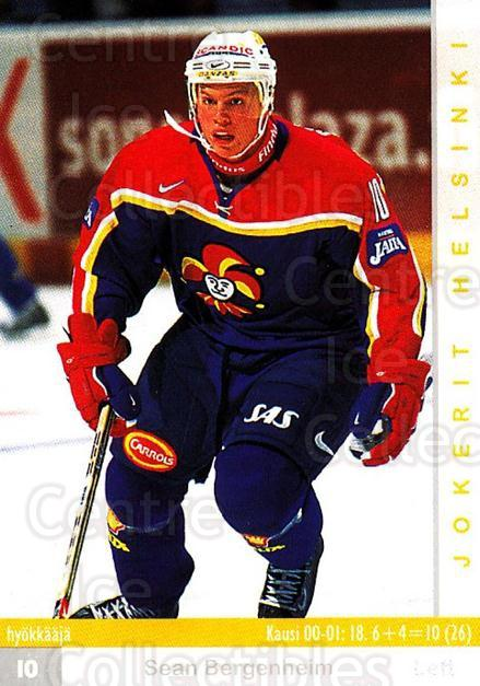 2001-02 Finnish Cardset #257 Sean Bergenheim<br/>5 In Stock - $2.00 each - <a href=https://centericecollectibles.foxycart.com/cart?name=2001-02%20Finnish%20Cardset%20%23257%20Sean%20Bergenheim...&price=$2.00&code=163143 class=foxycart> Buy it now! </a>