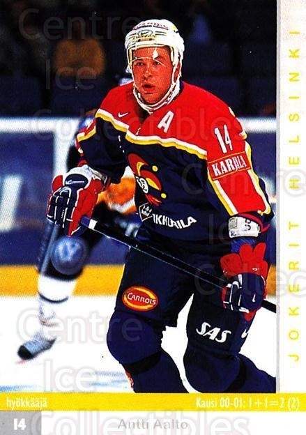 2001-02 Finnish Cardset #258 Antti Aalto<br/>6 In Stock - $2.00 each - <a href=https://centericecollectibles.foxycart.com/cart?name=2001-02%20Finnish%20Cardset%20%23258%20Antti%20Aalto...&price=$2.00&code=163144 class=foxycart> Buy it now! </a>