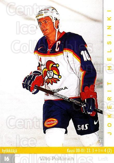 2001-02 Finnish Cardset #259 Ville Peltonen<br/>5 In Stock - $2.00 each - <a href=https://centericecollectibles.foxycart.com/cart?name=2001-02%20Finnish%20Cardset%20%23259%20Ville%20Peltonen...&price=$2.00&code=163145 class=foxycart> Buy it now! </a>