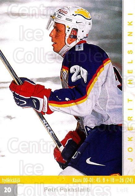2001-02 Finnish Cardset #260 Petri Pakaslahti<br/>7 In Stock - $2.00 each - <a href=https://centericecollectibles.foxycart.com/cart?name=2001-02%20Finnish%20Cardset%20%23260%20Petri%20Pakaslaht...&price=$2.00&code=163147 class=foxycart> Buy it now! </a>