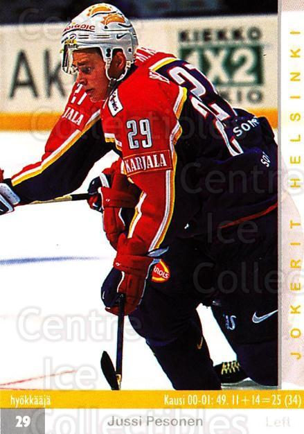 2001-02 Finnish Cardset #262 Jussi Pesonen<br/>9 In Stock - $2.00 each - <a href=https://centericecollectibles.foxycart.com/cart?name=2001-02%20Finnish%20Cardset%20%23262%20Jussi%20Pesonen...&price=$2.00&code=163149 class=foxycart> Buy it now! </a>