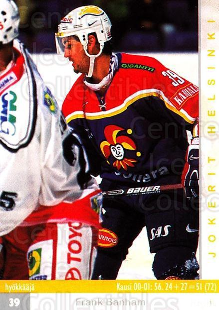 2001-02 Finnish Cardset #263 Frank Banham<br/>3 In Stock - $2.00 each - <a href=https://centericecollectibles.foxycart.com/cart?name=2001-02%20Finnish%20Cardset%20%23263%20Frank%20Banham...&price=$2.00&code=163150 class=foxycart> Buy it now! </a>