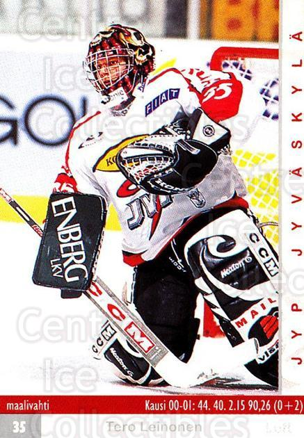 2001-02 Finnish Cardset #266 Tero Leinonen<br/>3 In Stock - $2.00 each - <a href=https://centericecollectibles.foxycart.com/cart?name=2001-02%20Finnish%20Cardset%20%23266%20Tero%20Leinonen...&quantity_max=3&price=$2.00&code=163153 class=foxycart> Buy it now! </a>