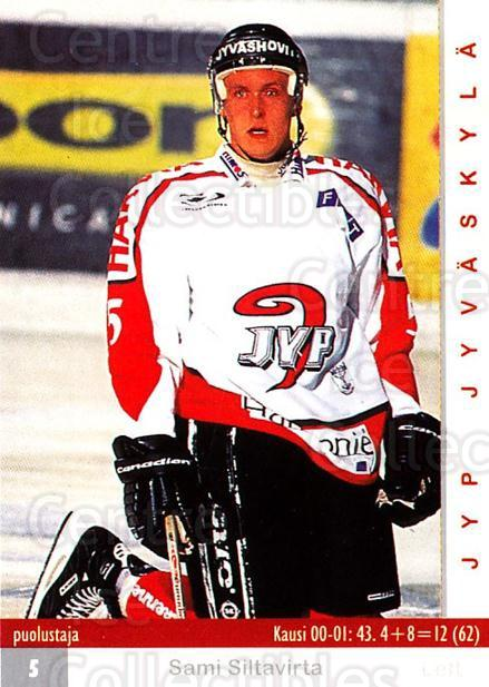 2001-02 Finnish Cardset #269 Sami Siltavirta<br/>9 In Stock - $2.00 each - <a href=https://centericecollectibles.foxycart.com/cart?name=2001-02%20Finnish%20Cardset%20%23269%20Sami%20Siltavirta...&quantity_max=9&price=$2.00&code=163156 class=foxycart> Buy it now! </a>