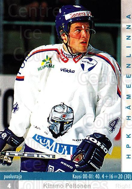 2001-02 Finnish Cardset #27 Kimmo Peltonen<br/>7 In Stock - $2.00 each - <a href=https://centericecollectibles.foxycart.com/cart?name=2001-02%20Finnish%20Cardset%20%2327%20Kimmo%20Peltonen...&quantity_max=7&price=$2.00&code=163157 class=foxycart> Buy it now! </a>