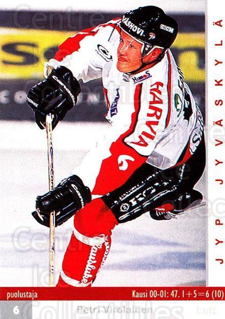 2001-02 Finnish Cardset #271 Petri Virolainen<br/>7 In Stock - $2.00 each - <a href=https://centericecollectibles.foxycart.com/cart?name=2001-02%20Finnish%20Cardset%20%23271%20Petri%20Virolaine...&quantity_max=7&price=$2.00&code=163159 class=foxycart> Buy it now! </a>