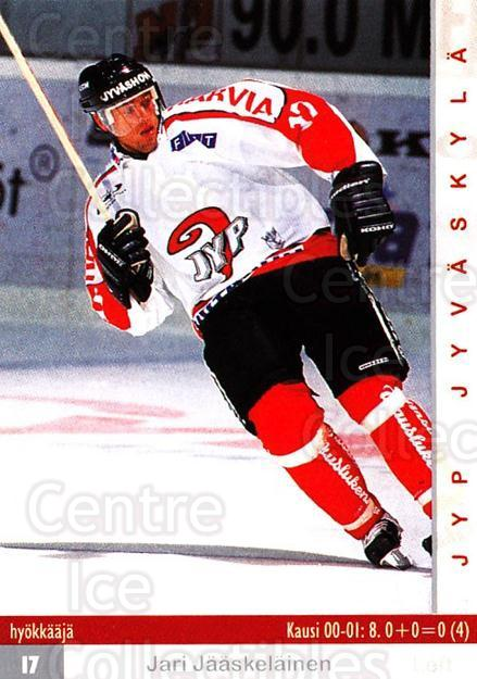 2001-02 Finnish Cardset #274 Jari Jaaskelainen<br/>7 In Stock - $2.00 each - <a href=https://centericecollectibles.foxycart.com/cart?name=2001-02%20Finnish%20Cardset%20%23274%20Jari%20Jaaskelain...&quantity_max=7&price=$2.00&code=163162 class=foxycart> Buy it now! </a>