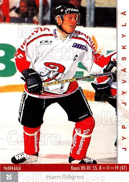 2001-02 Finnish Cardset #275 Harri Sillgren<br/>7 In Stock - $2.00 each - <a href=https://centericecollectibles.foxycart.com/cart?name=2001-02%20Finnish%20Cardset%20%23275%20Harri%20Sillgren...&quantity_max=7&price=$2.00&code=163163 class=foxycart> Buy it now! </a>