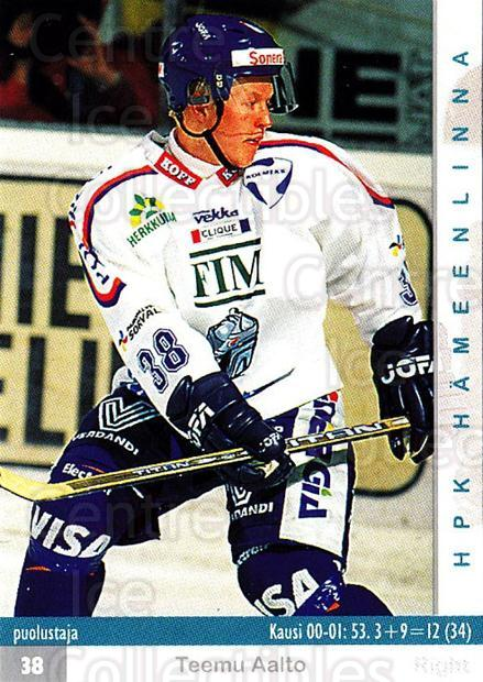 2001-02 Finnish Cardset #28 Teemu Aalto<br/>9 In Stock - $2.00 each - <a href=https://centericecollectibles.foxycart.com/cart?name=2001-02%20Finnish%20Cardset%20%2328%20Teemu%20Aalto...&quantity_max=9&price=$2.00&code=163168 class=foxycart> Buy it now! </a>