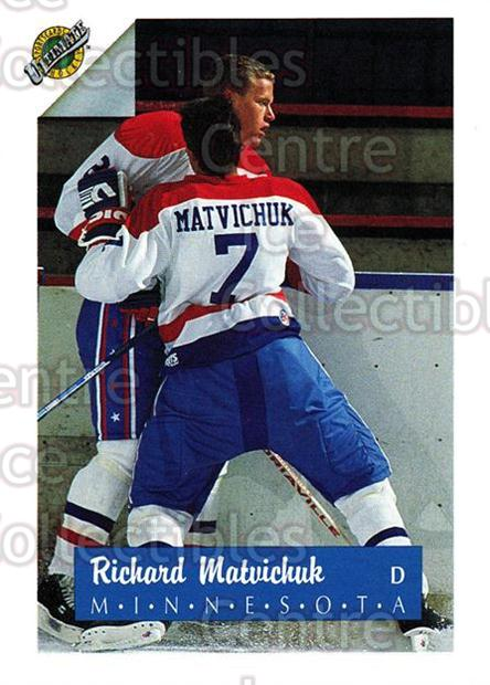 1991 Ultimate Draft #7 Richard Matvichuk<br/>10 In Stock - $1.00 each - <a href=https://centericecollectibles.foxycart.com/cart?name=1991%20Ultimate%20Draft%20%237%20Richard%20Matvich...&quantity_max=10&price=$1.00&code=16317 class=foxycart> Buy it now! </a>