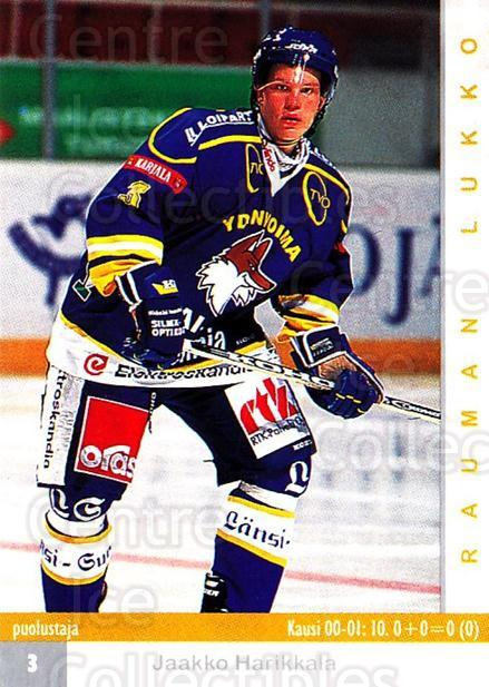 2001-02 Finnish Cardset #293 Jaakko Harikkala<br/>9 In Stock - $2.00 each - <a href=https://centericecollectibles.foxycart.com/cart?name=2001-02%20Finnish%20Cardset%20%23293%20Jaakko%20Harikkal...&price=$2.00&code=163182 class=foxycart> Buy it now! </a>