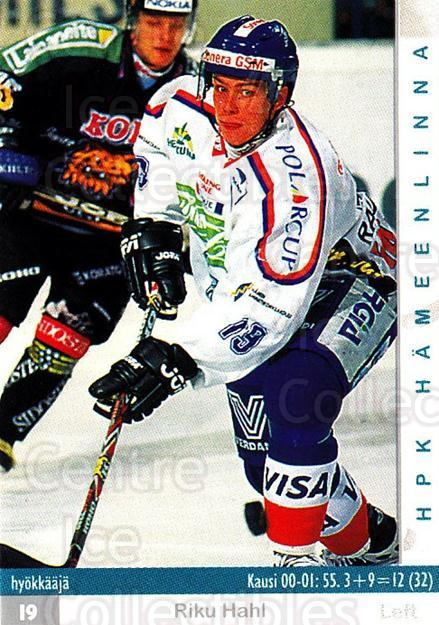2001-02 Finnish Cardset #30 Riku Hahl<br/>11 In Stock - $2.00 each - <a href=https://centericecollectibles.foxycart.com/cart?name=2001-02%20Finnish%20Cardset%20%2330%20Riku%20Hahl...&quantity_max=11&price=$2.00&code=163190 class=foxycart> Buy it now! </a>