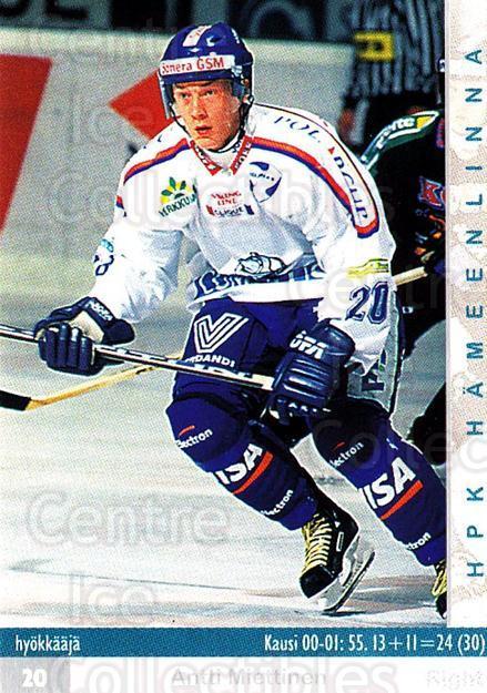 2001-02 Finnish Cardset #31 Antti Miettinen<br/>2 In Stock - $2.00 each - <a href=https://centericecollectibles.foxycart.com/cart?name=2001-02%20Finnish%20Cardset%20%2331%20Antti%20Miettinen...&quantity_max=2&price=$2.00&code=163201 class=foxycart> Buy it now! </a>