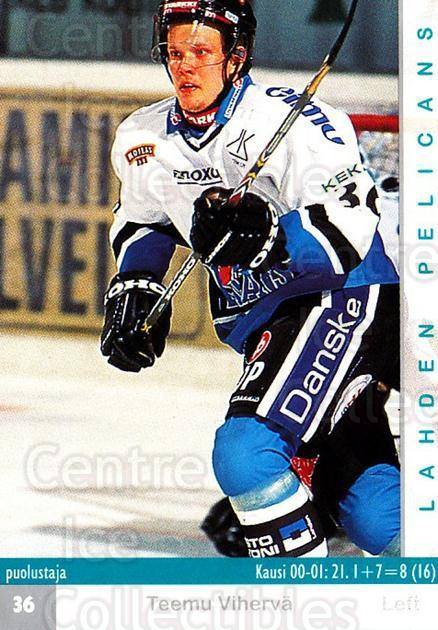 2001-02 Finnish Cardset #313 Teemu Viherva<br/>6 In Stock - $2.00 each - <a href=https://centericecollectibles.foxycart.com/cart?name=2001-02%20Finnish%20Cardset%20%23313%20Teemu%20Viherva...&quantity_max=6&price=$2.00&code=163205 class=foxycart> Buy it now! </a>