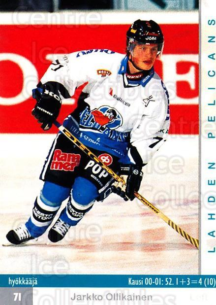 2001-02 Finnish Cardset #317 Jarkko Ollikainen<br/>9 In Stock - $2.00 each - <a href=https://centericecollectibles.foxycart.com/cart?name=2001-02%20Finnish%20Cardset%20%23317%20Jarkko%20Ollikain...&quantity_max=9&price=$2.00&code=163209 class=foxycart> Buy it now! </a>
