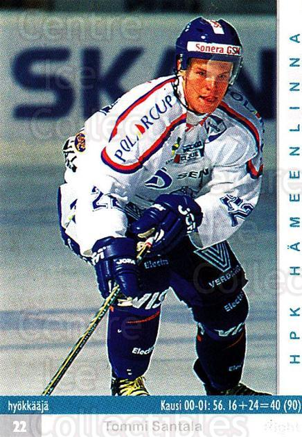 2001-02 Finnish Cardset #32 Tommi Santala<br/>3 In Stock - $2.00 each - <a href=https://centericecollectibles.foxycart.com/cart?name=2001-02%20Finnish%20Cardset%20%2332%20Tommi%20Santala...&quantity_max=3&price=$2.00&code=163212 class=foxycart> Buy it now! </a>