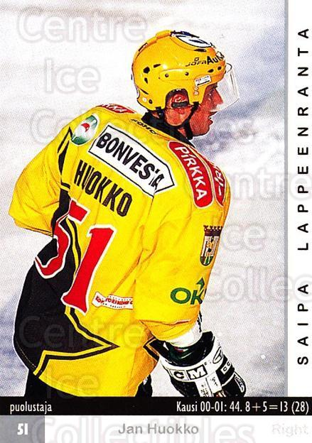 2001-02 Finnish Cardset #328 Jan Huokko<br/>8 In Stock - $2.00 each - <a href=https://centericecollectibles.foxycart.com/cart?name=2001-02%20Finnish%20Cardset%20%23328%20Jan%20Huokko...&quantity_max=8&price=$2.00&code=163220 class=foxycart> Buy it now! </a>