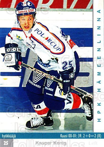 2001-02 Finnish Cardset #33 Kasper Kenig<br/>5 In Stock - $2.00 each - <a href=https://centericecollectibles.foxycart.com/cart?name=2001-02%20Finnish%20Cardset%20%2333%20Kasper%20Kenig...&quantity_max=5&price=$2.00&code=163222 class=foxycart> Buy it now! </a>