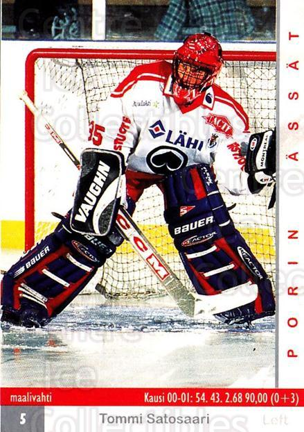 2001-02 Finnish Cardset #366 Tommi Satosaari<br/>5 In Stock - $2.00 each - <a href=https://centericecollectibles.foxycart.com/cart?name=2001-02%20Finnish%20Cardset%20%23366%20Tommi%20Satosaari...&price=$2.00&code=163262 class=foxycart> Buy it now! </a>