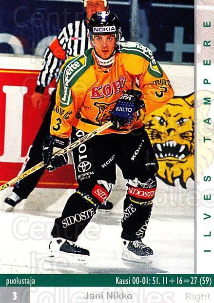 2001-02 Finnish Cardset #37 Jani Nikko<br/>7 In Stock - $2.00 each - <a href=https://centericecollectibles.foxycart.com/cart?name=2001-02%20Finnish%20Cardset%20%2337%20Jani%20Nikko...&quantity_max=7&price=$2.00&code=163266 class=foxycart> Buy it now! </a>