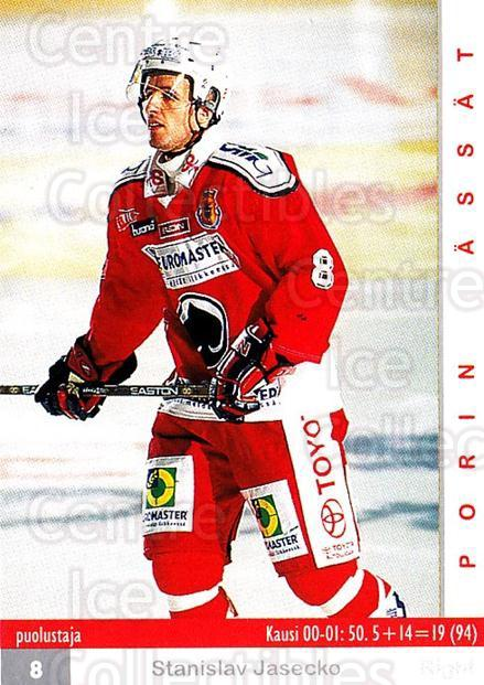 2001-02 Finnish Cardset #370 Stanislav Jasecko<br/>2 In Stock - $2.00 each - <a href=https://centericecollectibles.foxycart.com/cart?name=2001-02%20Finnish%20Cardset%20%23370%20Stanislav%20Jasec...&price=$2.00&code=163267 class=foxycart> Buy it now! </a>