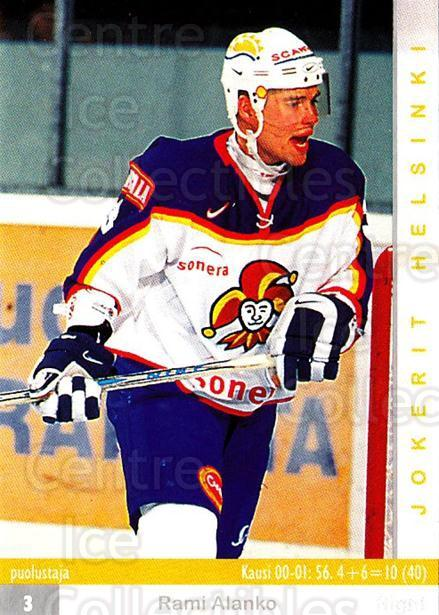 2001-02 Finnish Cardset #51 Rami Alanko<br/>6 In Stock - $2.00 each - <a href=https://centericecollectibles.foxycart.com/cart?name=2001-02%20Finnish%20Cardset%20%2351%20Rami%20Alanko...&price=$2.00&code=163293 class=foxycart> Buy it now! </a>