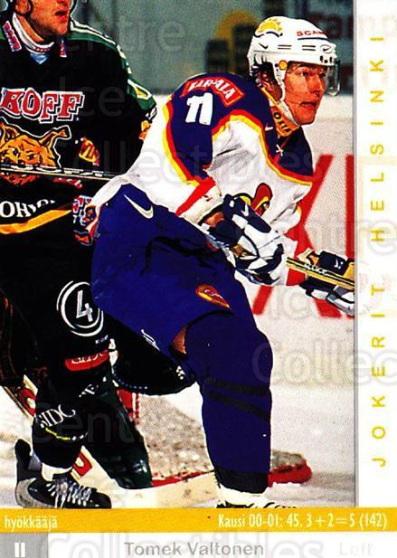 2001-02 Finnish Cardset #52 Tomek Valtonen<br/>8 In Stock - $2.00 each - <a href=https://centericecollectibles.foxycart.com/cart?name=2001-02%20Finnish%20Cardset%20%2352%20Tomek%20Valtonen...&price=$2.00&code=163294 class=foxycart> Buy it now! </a>